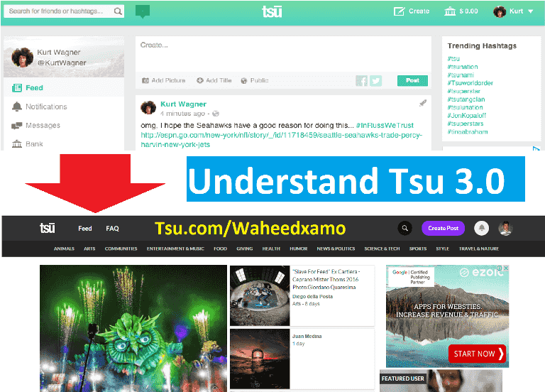 How to brand coin alongside TSU Rising Social Media Tsu V3.0 Update Review | Earn Online