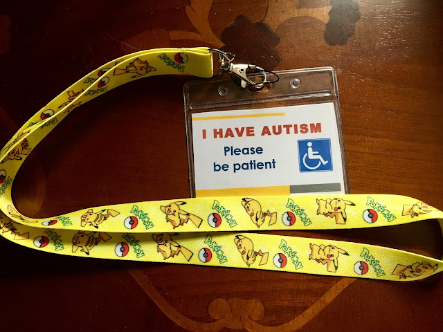 autism awareness pokemon lanyard badge