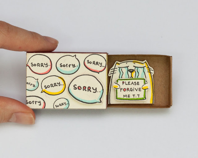 Curiosa manualidad hecha con una caja de cerillos o fosforos