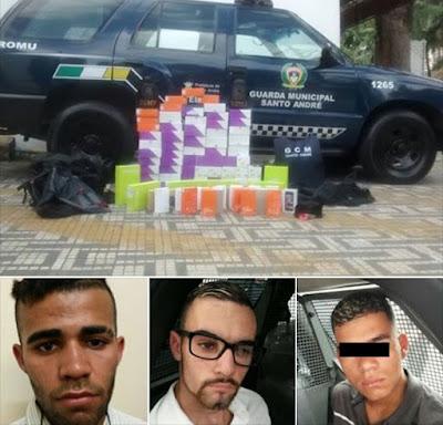 ROMU/ROMO e Ronda Setorial da Guarda Civil de Santo André desmantelam quadrilha e frustram roubo nas Casas Bahia
