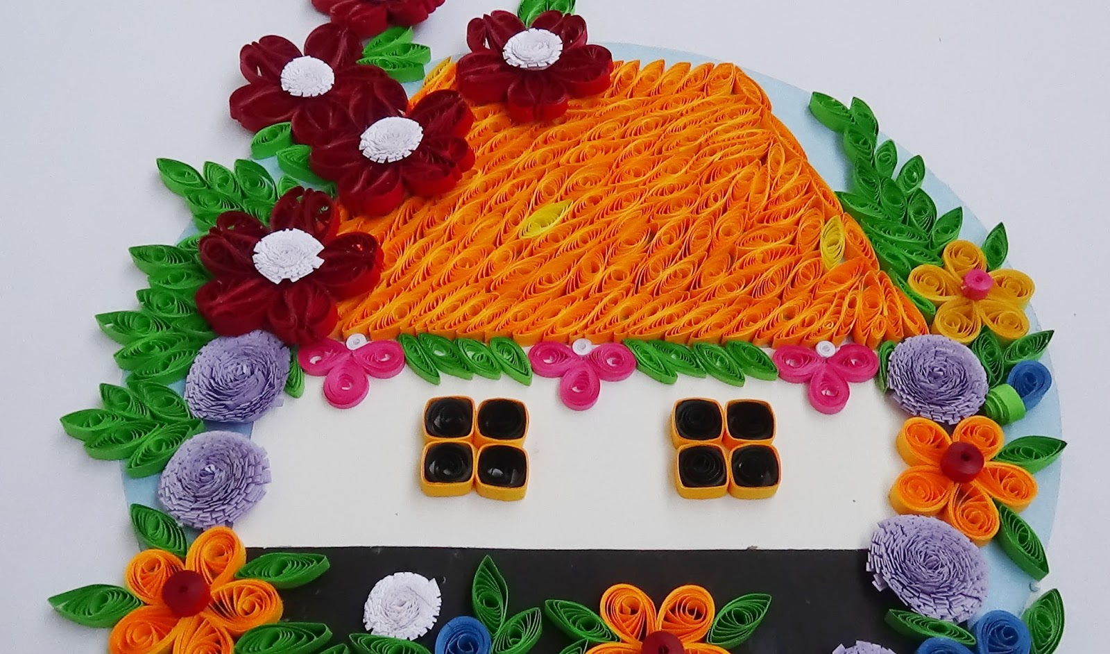 Paper quilling how to make beautiful house with flowers paper paper quilling how to make beautiful house with flowers mightylinksfo