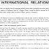 IAS GS Mains Test Series INTERNATIONAL RELATIONS Answer Hints PDF