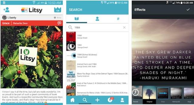 litsy ebook reader screenshots
