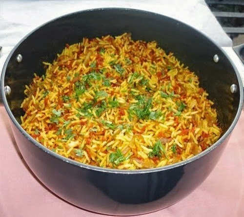 Gajar pulao ready to serve