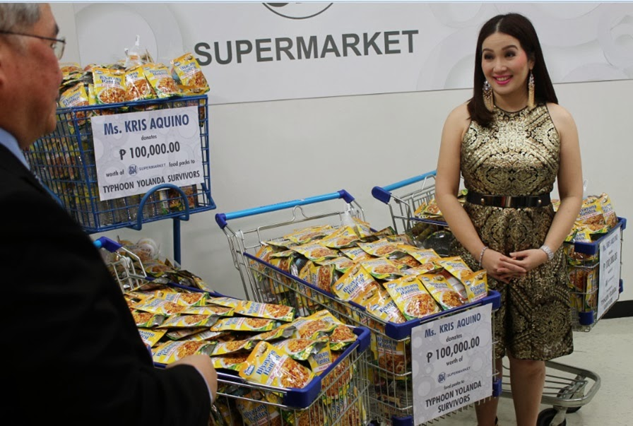 Kris Aquino donates 100K grocery packs to Typhoon Yolanda survivors