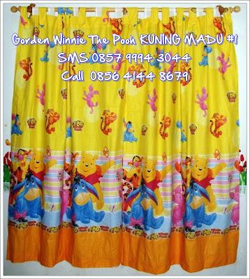 sprei winnie the pooh kuning bagus murah jawa