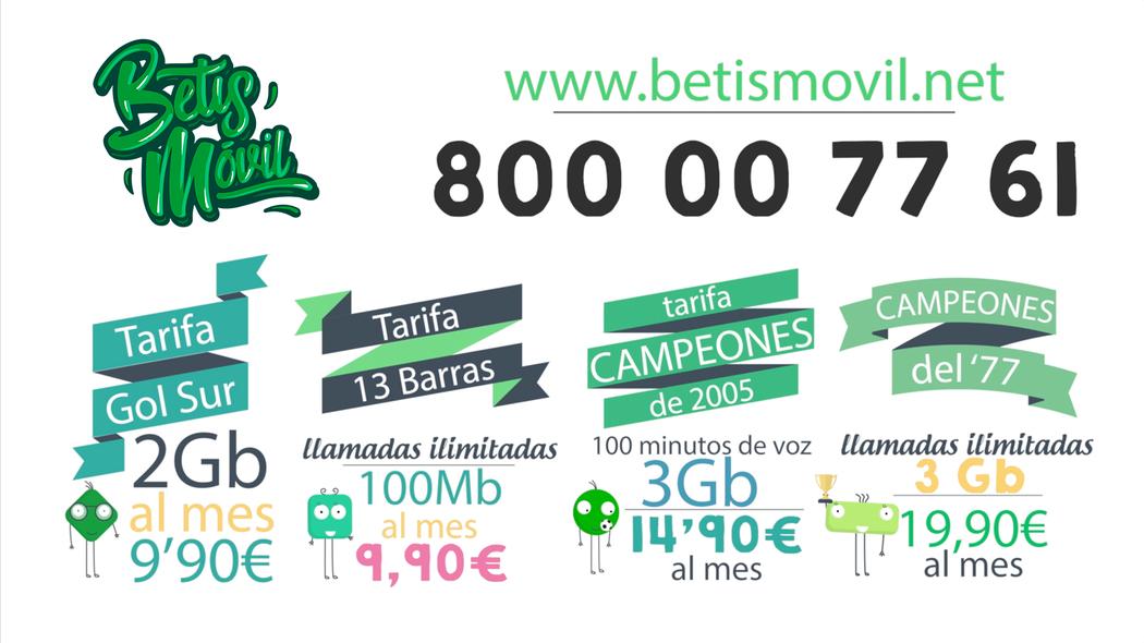 Betis Móvil, el operador de los aficionados del Betis