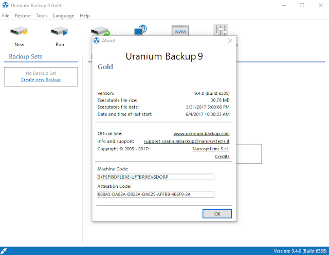 uranium backup activation keygen