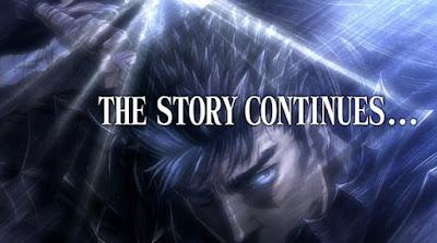 "La segunda temporada de ""BERSERK"" (ベルセルク) termina con un ""The Story Continues....""."