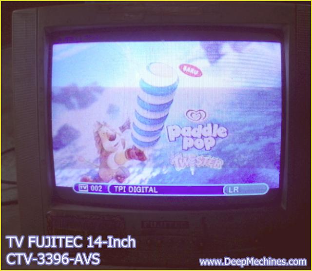 TV FUJITEC 14-Inch (CTV 3396-AVS) telah selesai perbaikan Standby / Siaran Lemah