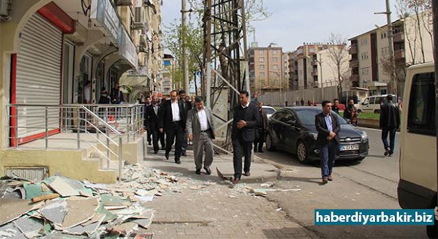 DİYARBAKIR-HÜDA PAR Genel Başkan Yardımcısı M. Hüseyin Yılmaz, PKK tarafından Diyarbakır'ın Bağlar ilçesinde gerçekleştirilen saldırıda iş yerleri zarar gören esnafı ve halkı ziyaret etti.