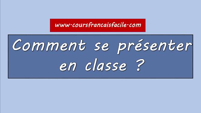 se présenter en français