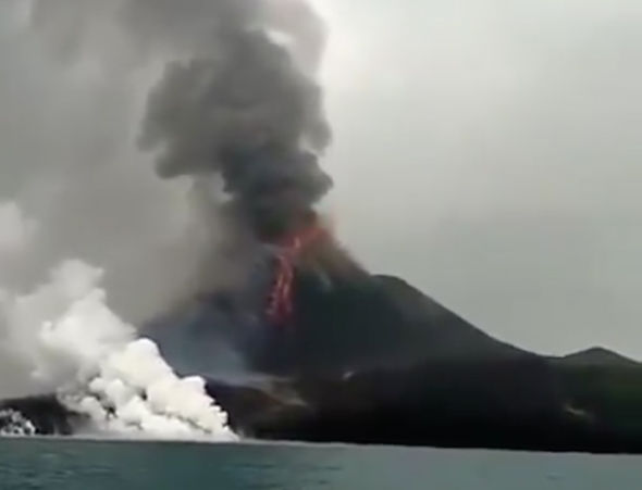 Now the volcanoes! Indonesia's Son of Krakatoa erupts  Indonesia-volcano-1535787