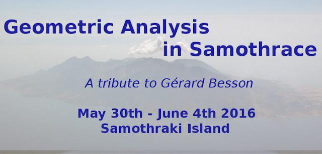 Γεωμετρική Ανάλυση στη Σαμοθράκη, αφιέρωμα στον μαθηματικό Gerard Besson