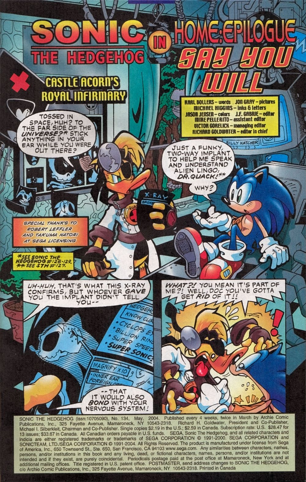 Read online Sonic The Hedgehog comic -  Issue #134 - 3
