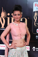 Akshara Haasan in Peachy Crop Top Choli Skirt at IIFA Utsavam Awards 27.JPG