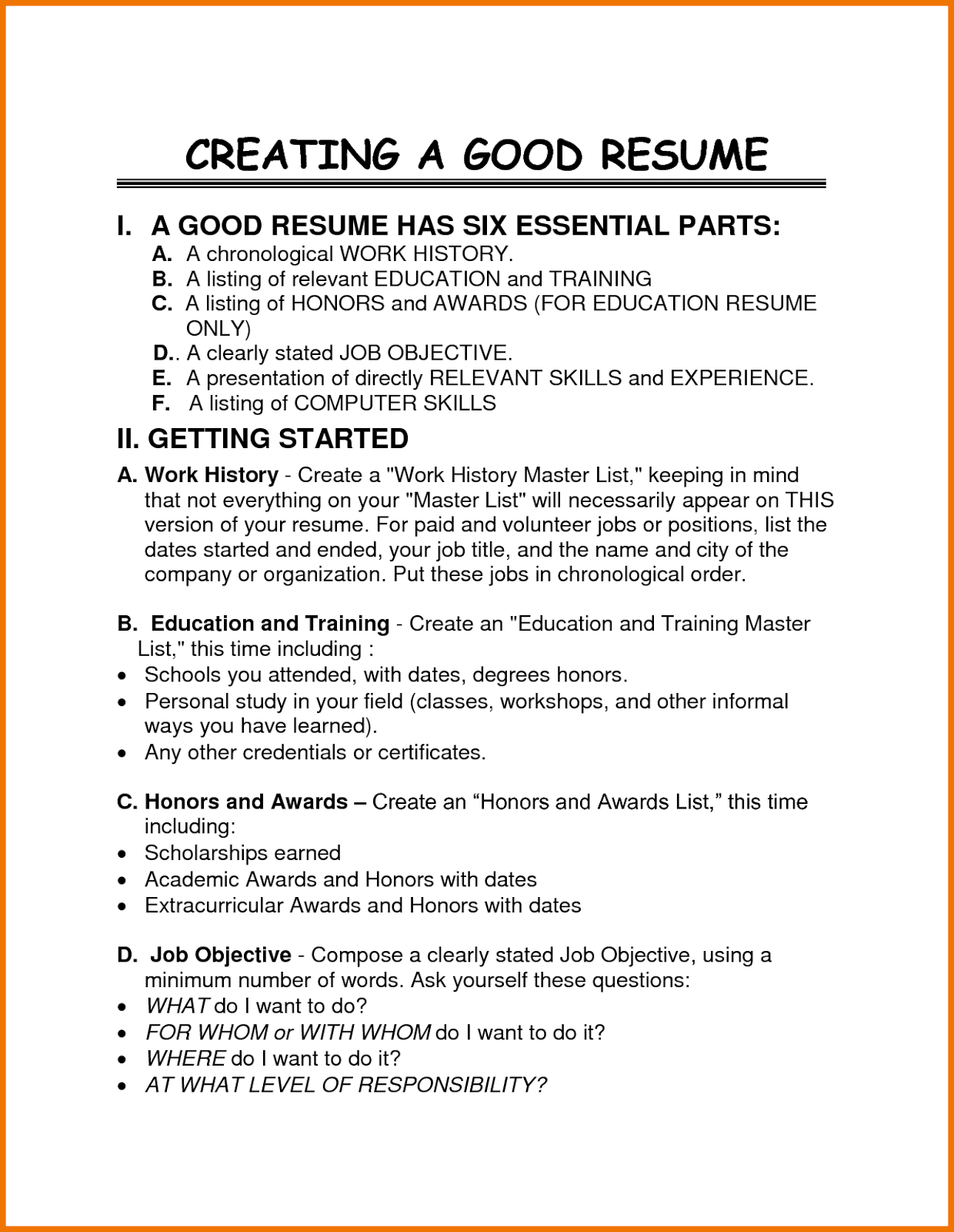 resume importance of a resume drfanendo worksheets for elementary