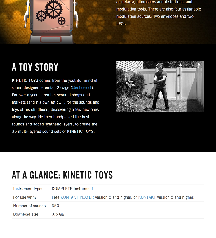 NATIVE INSTRUMENTS - Kinetic Toys [KONTAKT LIBRARY] [3 5 GB