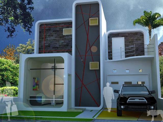 model rumah mungil 2 lantai