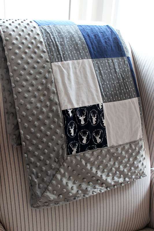 Get Your Craft On Self Binding Minky Blanket