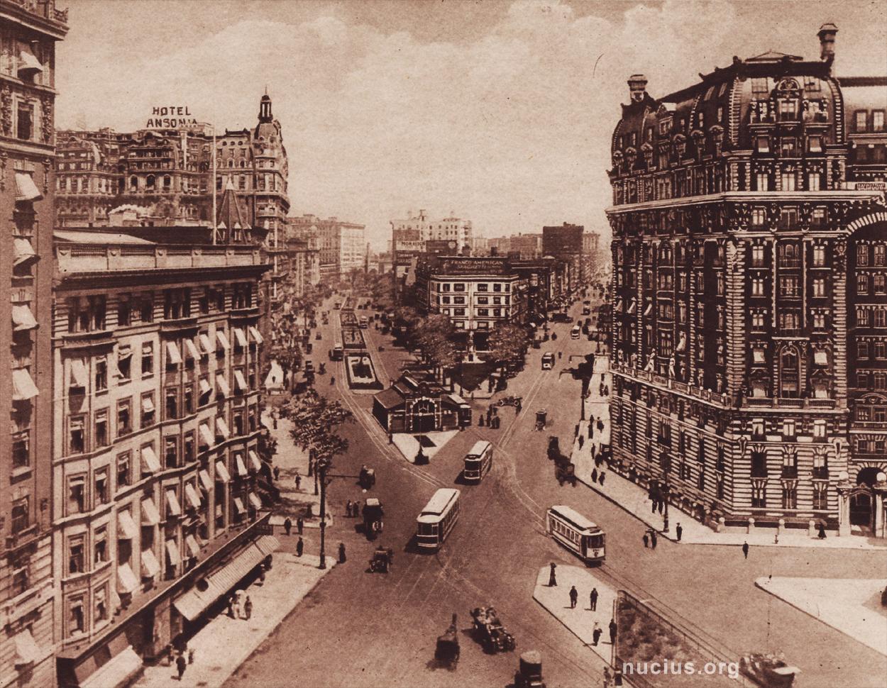 new york history geschichte the broadway squares. Black Bedroom Furniture Sets. Home Design Ideas
