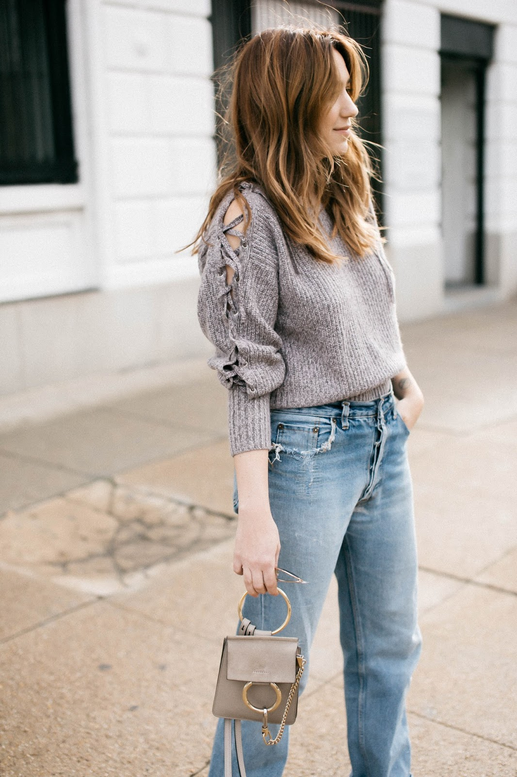 transitional styles, spring sweaters, rebecca minkoff sweater, transitional fashion, spring fashion trends
