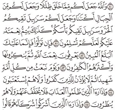 Tafsir Surat An-Nahl Ayat 81, 82, 83, 84, 85