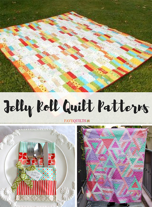 45 Free Jelly Roll Quilt Patterns By FaveQuilts