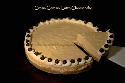Creme Caramel Latte Cheesecake