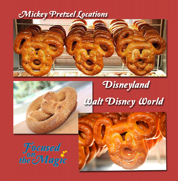 Disney World Disneyland Mickey Pretzel Locations
