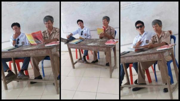 ASTAGHFIRULAH HAL ADZIM!! Siswa SMA ini Merokok Dan Duduk Tak Sopan Di Samping Gurunya, BANTU SHARE BIAR TERKENAL!