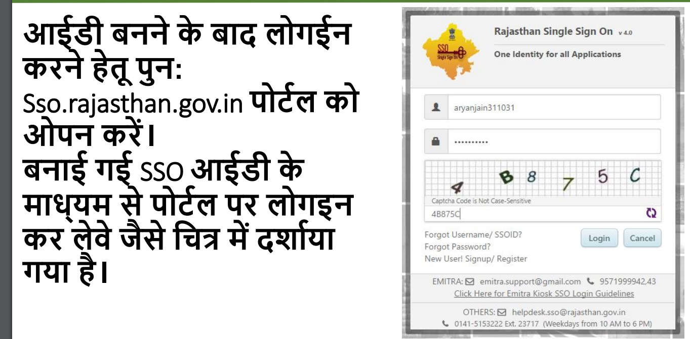 sso rajasthan gov in register