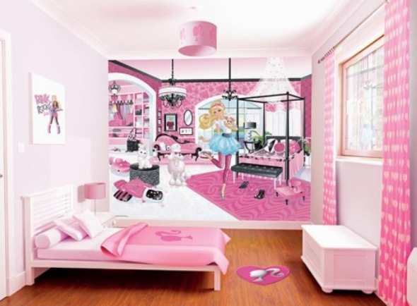 Wallpaper Ideas Feminine Pink Bedroom For Kids Women