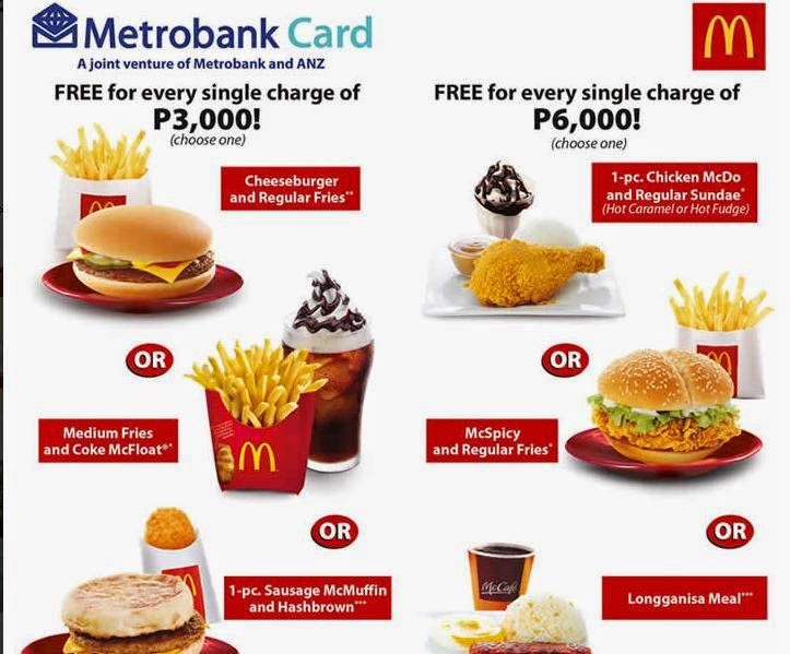 Metrobank Credit Card promo, Metrobank McDonald's Spend Anywhere, Metrobank Credit Card Spend Anywhere