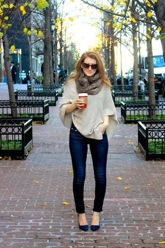 J aime beaucoup ce mélange avec un jean slim, puisqu il permet de ne pas  faire de fashion faux-pas. Comme le dit Cristina Cordula, il faut du large  en bas ... 0c6ecac70fc