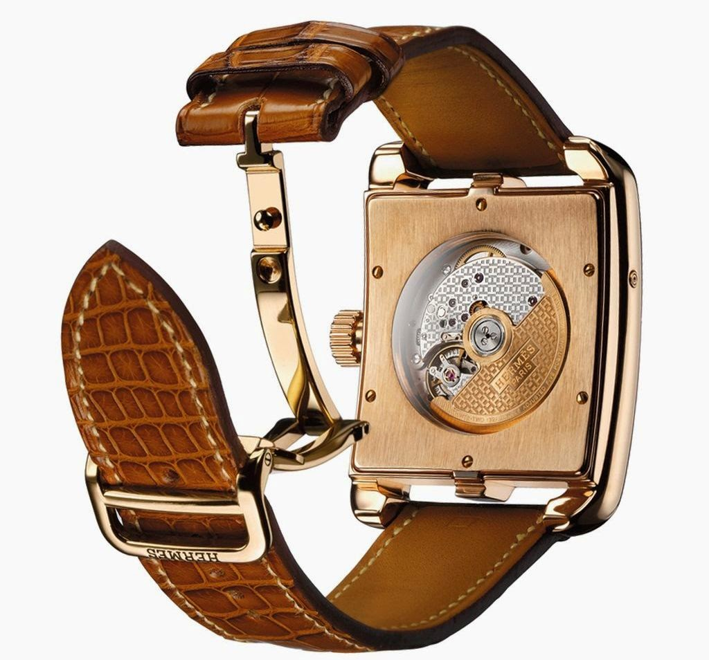 Hermès Cape Cod Moon Phases automatic watch in rose gold