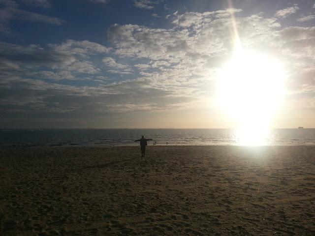 Boy on Empty Beach