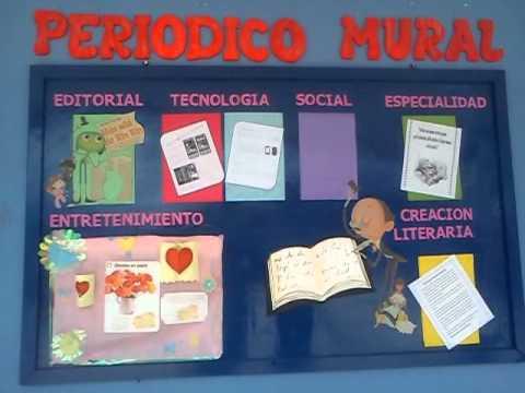 Medios gr ficos escolares el peri dico mural for Estructura de un periodico mural