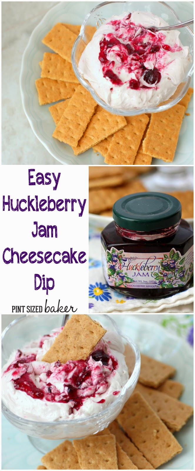 The wonderful flavor of Montana's huckleberries comes to your kitchen in this Huckleberry Jam Cheesecake Dip. It's a tasty party treat!