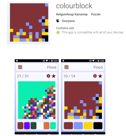 Colourblock Android game
