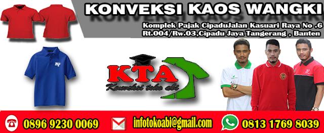 Jasa Pembuatan Kaos Wangki Di Tangerang