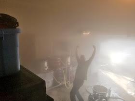 It got pretty steamy in Blane's garage.