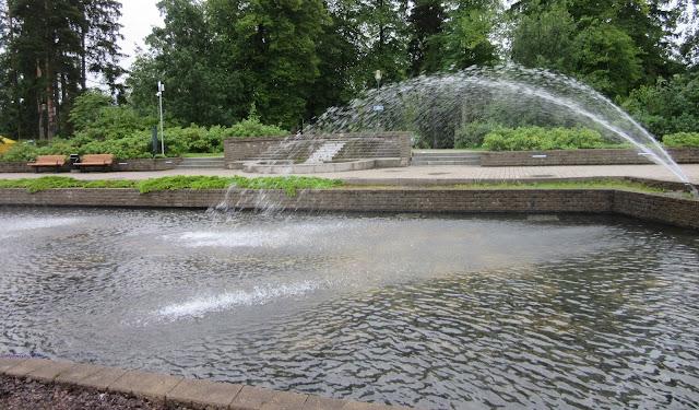 Fountain next to Imatra Market