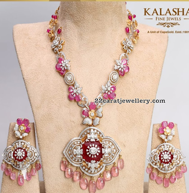 Exclusvie Ruby Diamond Set by Kalasha Fine Jewels