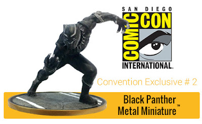 San Diego Comic-Con 2017 Exclusive Black Panther Marvel Metal Miniature by Factory Entertainment