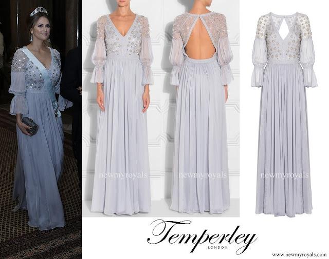 Princess Madeleine wore TEMPERLEY LONDON Crossbone Lattice Dress