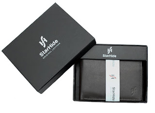 £10.11 Starhide Mens New High Quality Luxury Soft Black Leather Trifold Passcase Wallet