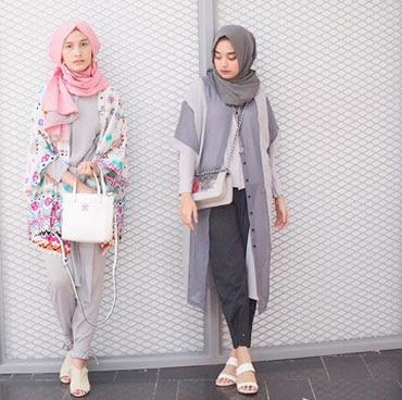 Style jogger pants wanita hijab