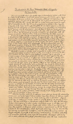 """Facsimil del Manuscrito de  """"Los asesinatos de la Rue Morgue"""" de Allan Poe"""