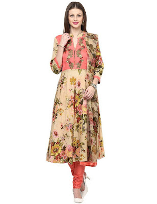 Shakumbhari Party Wear Cotton Anarkali Salwar Suit Dupatta